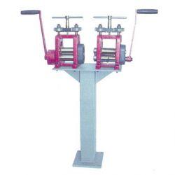 LAMINOIR MAIN COLONNE 100 mm AVEC LAMINOIR PLAQUE + REDUCTEUR ET LAMINOIR FIL + MOLETTE