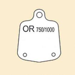 ETIQUETTE BLANCHE EN PLASTIQUE - OR 750/1000 POUR B.O