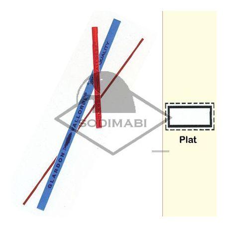 LIME CERAMIQUE PLATE 2 mm GR 400 - 100 X 2.0 X 0.5 mm