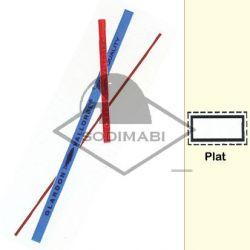 LIME CERAMIQUE PLATE 2 mm GR 800 - 100 X 2.0 X 0.5 mm