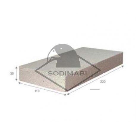 PLAQUE ISOLANTE BRIQUE POUR SOUDER 220 x 110 x 30 mm
