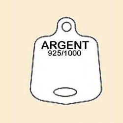 ETIQUETTE BLANCHE EN PLASTIQUE - ARGENT 925/1000 POUR PENDENTIF